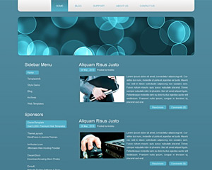 BubbleScribble Website Template