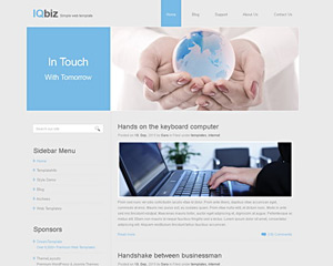 IQbiz Website Template