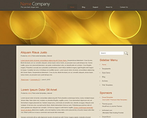 YellowBubbles Website Template